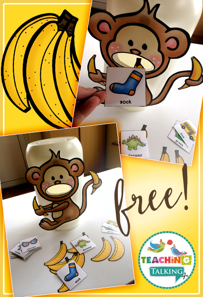 Free Articulation Game – Feed the Monkey for /s/ - from Teaching Talking
