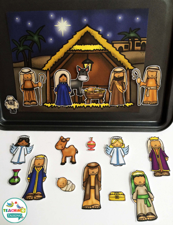 Nativity Vocabulary Activities for Speech Therapy